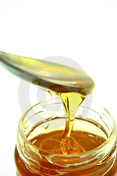 Gold honey Stock Image