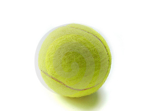 Tennis ball  macro isolated Royalty Free Stock Photography