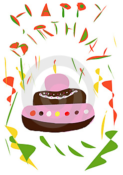 Birthday Cake Royalty Free Stock Photos