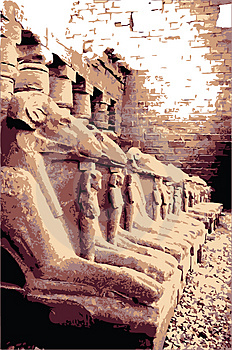 Sphinxes In Egypt Royalty Free Stock Images - Image: 4445889