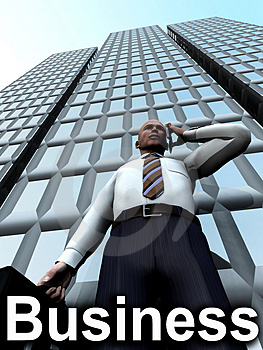 Business Man Standing In Front Of A Building 7 Royalty Free Stock Photos - Image: 4446968