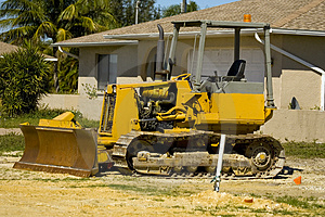 A Small Bulldozer At A Job Site Stock Images - Image: 4451094
