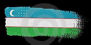 Brushstroke Flag Uzbekistan Stock Photos - Image: 4453343