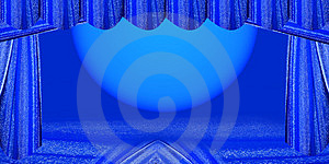 Blue Stage Royalty Free Stock Photo - Image: 4455405