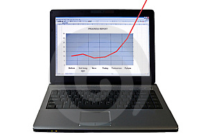 Laptop computer Royalty Free Stock Image