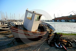 Ruined Boat Stock Images - Image: 4470924