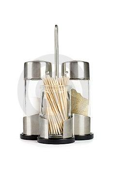 Salt-cellar With Toothpicks Royalty Free Stock Photo - Image: 4474325