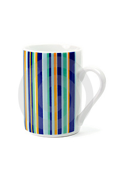 Striped Cup Royalty Free Stock Image - Image: 4474356