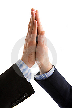 High Five Handshake Stock Photo
