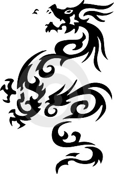Tribal tattoo of dragon Stock Photography