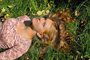 Relaxation On The Grass Royalty Free Stock Photography - Image: 4478767