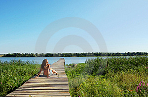Young  Woman Getting A Suntan Royalty Free Stock Image - Image: 4479066