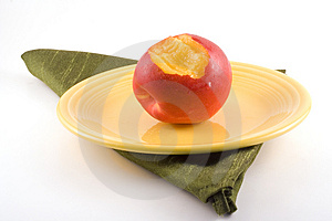Bite Out Of A Nectarine. Stock Photography - Image: 4479302