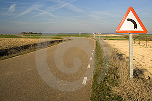 Dangerous Curve Stock Photos - Image: 4481063