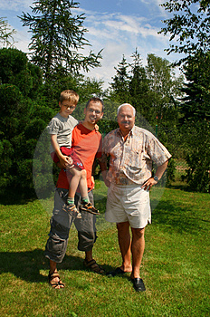 Three generation family Stock Image