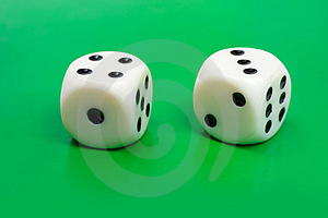 Two Gambling Dices Stock Images - Image: 4482594