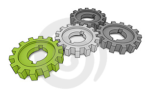 Isolated Cogwheels Stock Photos - Image: 4483313