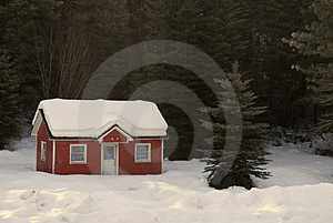 House Buried in Snow Free Stock Image