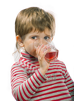 Little Drinking Boy Royalty Free Stock Photography - Image: 4491527