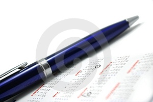 Pen on the calendar Free Stock Photo