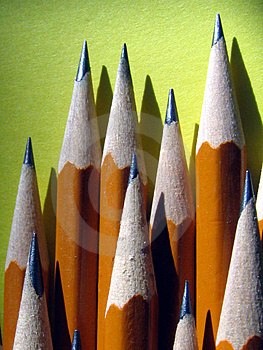 Stack Of Sharpened Pencils Stock Photography - Image: 4496162