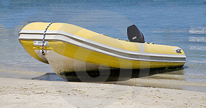 Dingy On Beach Stock Photography - Image: 4499132