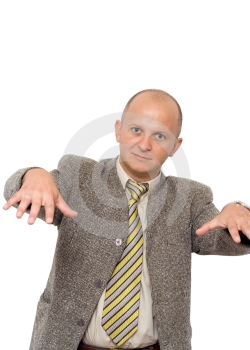 Crazy Rapping Businessman Royalty Free Stock Photography - Image: 450737