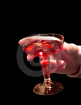 Glass Of Shampagne In Hand Stock Image - Image: 457691