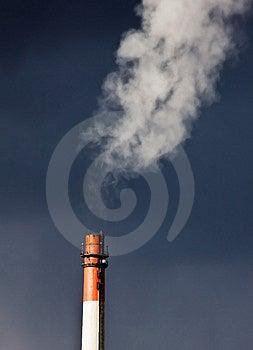 Factory chimney Royalty Free Stock Photo