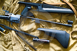 Disassembled Rifle Royalty Free Stock Photo - Image: 4508025