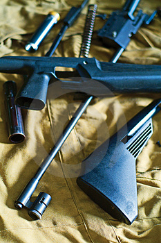 Disassembled Rifle Royalty Free Stock Image - Image: 4508066