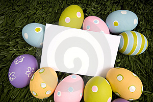 Easter Egg Notecard Royalty Free Stock Photos - Image: 4509938