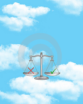 Scale Of Justice Royalty Free Stock Photo - Image: 4515095