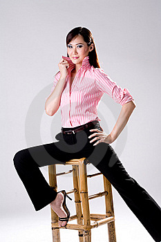 Businees Woman Looking Confidence Royalty Free Stock Photo - Image: 4517165