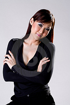 Businees Woman With Confidence Smile Stock Photos - Image: 4517333