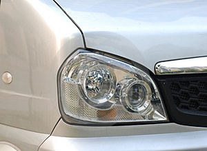 Left Headlight  Microbus Stock Image - Image: 4534191