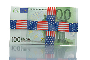 Wrapped Hundred Euro Bill Stock Images - Image: 4535544