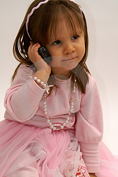 On The Phone Royalty Free Stock Photos - Image: 4537708