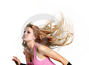 Sexy dancer girl Stock Photo