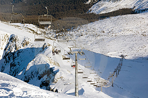Ski Lift Royalty Free Stock Images - Image: 4545719