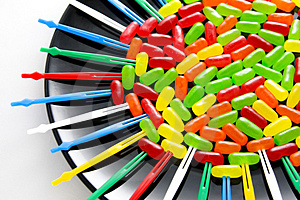 Brightly Colored Candies Stock Photography - Image: 4546972