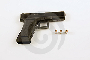 40mm Handgun Isolated On White Royalty Free Stock Photo - Image: 4547245