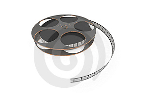 Isolated film reel Royalty Free Stock Photos