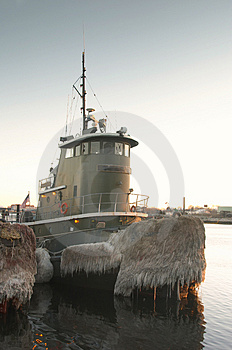 Tugboat Docked In Harbor Stock Photos - Image: 4557773