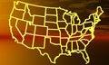 USA Map Stock Photography