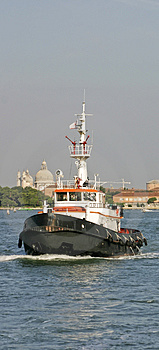Tugboat And Fire Rescue Ship Royalty Free Stock Photo - Image: 4563725