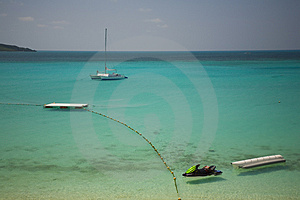 Sea Signs In Okinawa Royalty Free Stock Image - Image: 4566426