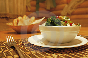 Salad Served For Meal Royalty Free Stock Images - Image: 4568359