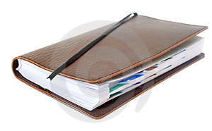 Business Notebook Isolated On White Stock Photo - Image: 4571120