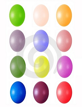 Colorful Easter Eggs Royalty Free Stock Images - Image: 4571379